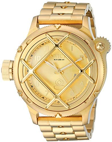 Invicta Men s Russian Diver Quartz Watch with Stainless-Steel Strap, Gold, 25.8 Model 26466
