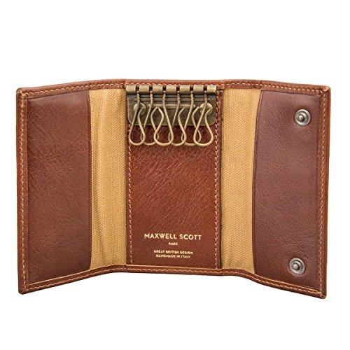 Maxwell Scott Luxury Tan Wallet Key Holder - One Size (The Lapo) from Maxwell Scott Bags