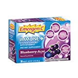 Alacer, Emergen C Immune Support with D Blueberry Acai, 0.32 Ounce