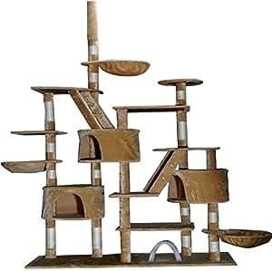 Petzone 295 Árbol de juego para gatos, incluye rascador y postes, centro de actividades: Amazon.es: Productos para mascotas