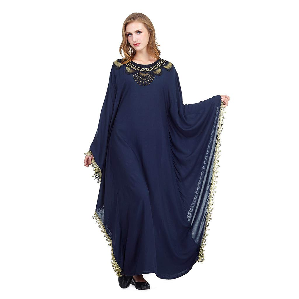2b9e5c6a2d1c9 Amazon.com: Batwing Abaya Dress Women Elegant Islamic Muslim Kaftan ...