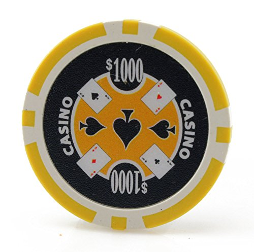 (Versa Games Casino Ace 11.5g Poker Chips - 25 Piece - Yellow)