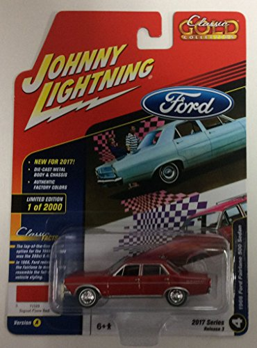 Johnny Lightning JLCG007 Classic Gold Version A 1966 Ford Fairlane 500 - 1966 500 Ford Fairlane
