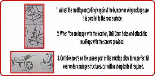 ASTRA 2005 ONWARDS Mudflaps REAR CONTOURED MUD FLAPS