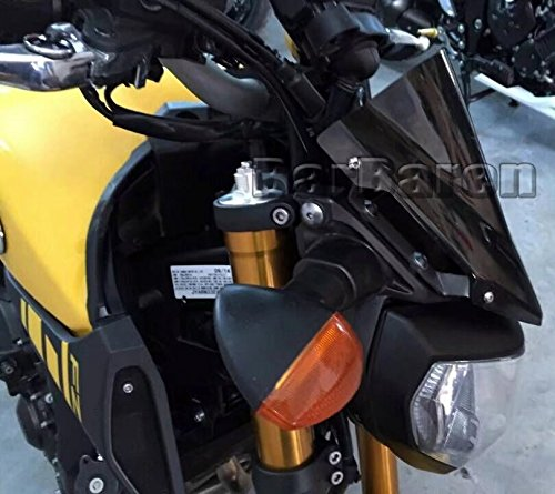 Motorrad Windschild Windschutzscheibe Racingscheibe rauchgrau F/ür Yamaha MT09 MT-09 FZ-09 2014-2016
