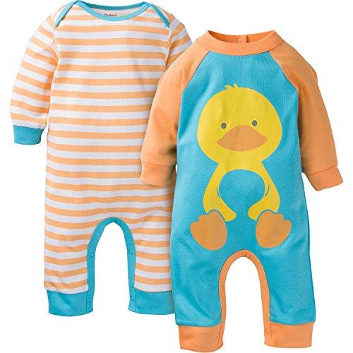 gerber-unisex-baby-newborn-2-pack-coverall-duck-3-6-months