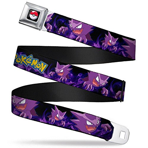 Buckle-Down Seatbelt Belt - POKeMON Haunter Poses/Smoke Black/Purples - 1.5