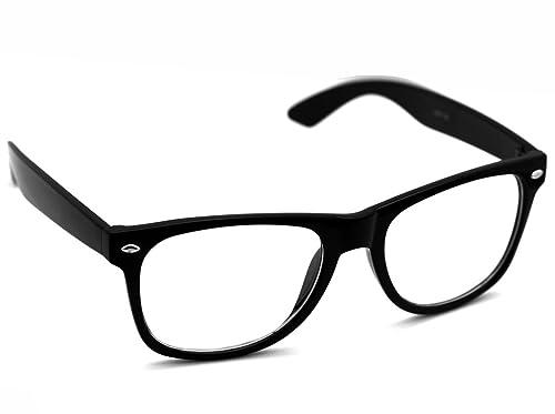 Oramics ® Occhiali da sole retro Wayfarer / Occhiali da Nerd / Secchione occhiali moderni