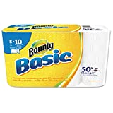 "Bounty 92979 Basic Select-A-Size Paper Towels, 5 9/10"" x 11"", 1-Ply, White (Pack of 8)"