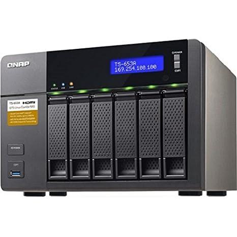 QNAP TS-653A - Dispositivo de Almacenamiento en Red NAS (Intel Celeron N3150, 4 GB RAM, 4 x USB 3.0, SATA II/III, Gigabit), Negro: Qnap: Amazon.es: ...