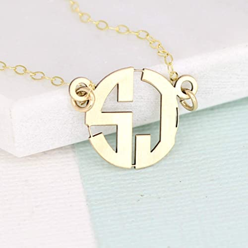 e6da87631 Image Unavailable. Image not available for. Color: Custom Block Monogram  Necklace ...