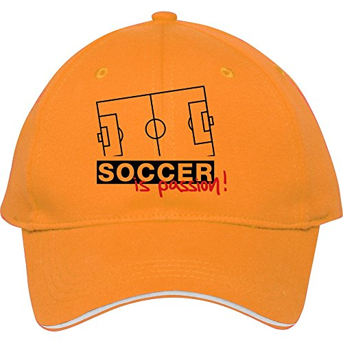 Fashion Soccer_is_passion_1__f2 Yellow Snapback Cap Hat Male/female Baseball Cap Cotton