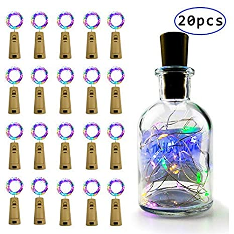 Paquete de 20 2M LED Luces Botella, Cadena de Luces Para Botellas ...