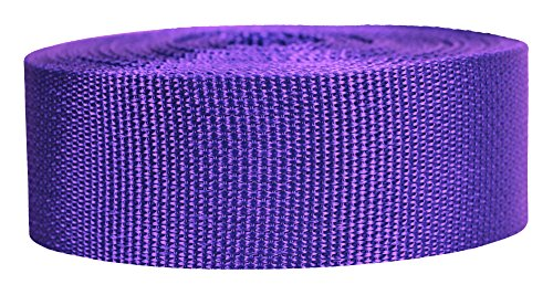 (Strapworks Lightweight Polypropylene Webbing - Poly Strapping for Outdoor DIY Gear Repair, Pet Collars, Crafts – 2 Inch x 10 Yards - Purple)