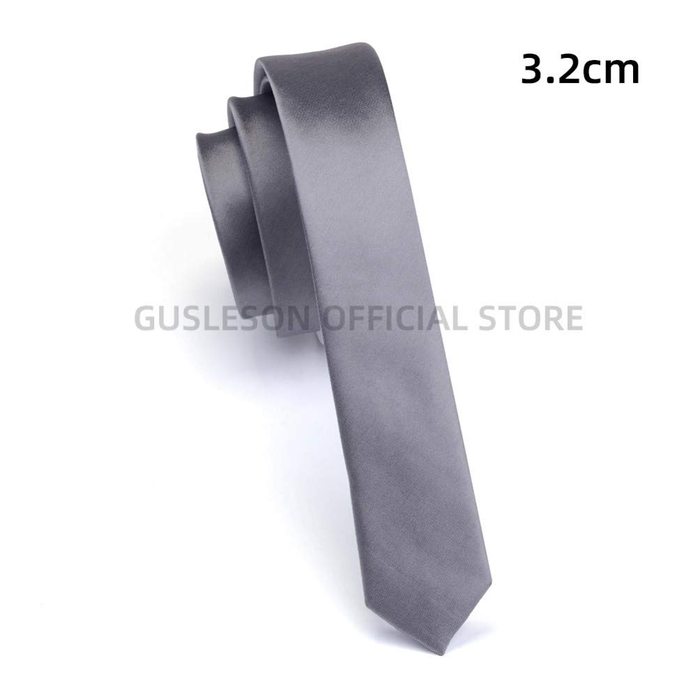 Cravatta super slim 3 cm cravatta rossa gialla nera solida cravatta fatta a mano sottile da uomo moda per la festa nuziale