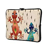 Geckos Colorful Southwest Desert 12 Inch Protective Laptop Sleeve Ultrabook Notebook Carrying Case Compatible with MacBook Pro MacBook Air Tablet Briefcase Bag