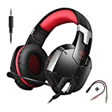 LESHP G1200 Gaming Headset 3.5mm Game Stereo Headphone Earphone Headband with Mic Stereo Bass for PS4 PC Computer Laptop Mobile Phones (Black and Red) Review