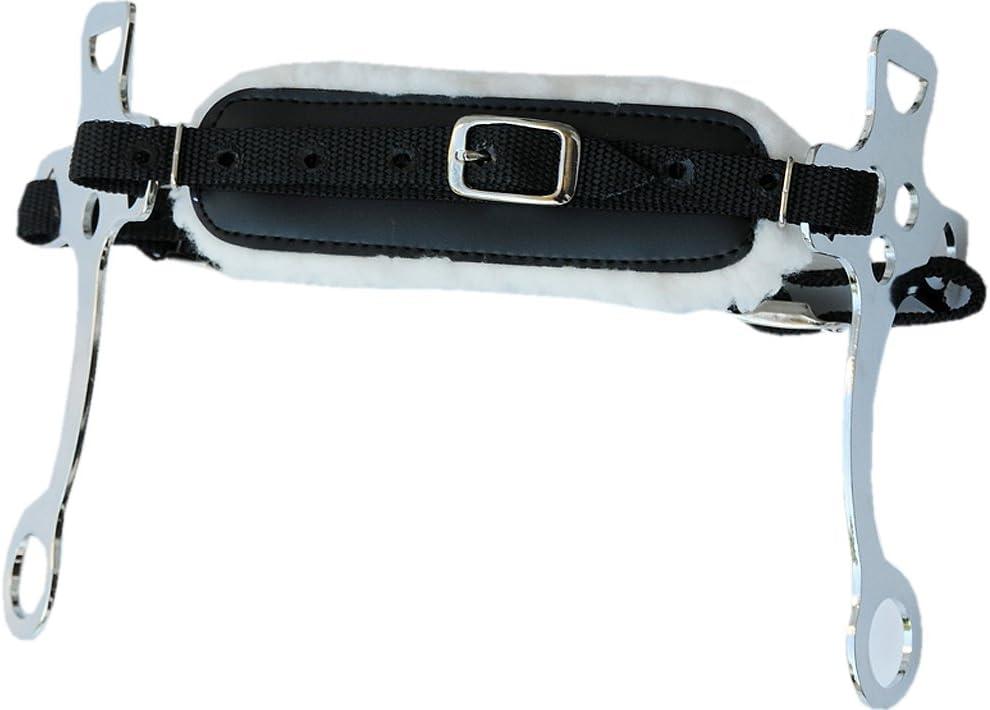 Hackamore Nylon Ajustable, con Base de Piel sintética, Talla única