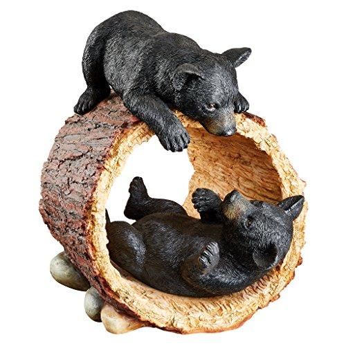 (Design Toscano KY71206 Rough Play Bear Cubs Garden Statue, Full Color)
