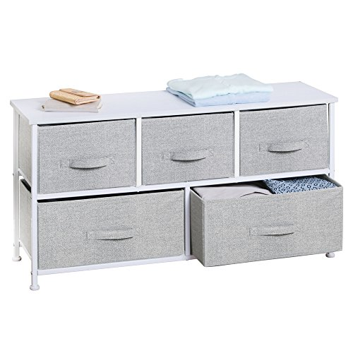 InterDesign Aldo Fabric 5-Drawer Dresser and Storage Organizer Unit for Bedroom, Apartment, Small Living Spaces – Gray by InterDesign (Image #5)'