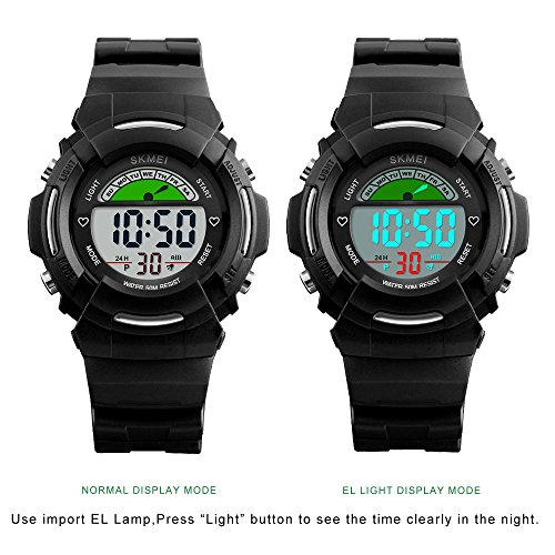 Kids-Sport-Digital-Wrist-Watches-for-Boys-with-Alarm-9-inches-235-millimeters-Black-Water-proof