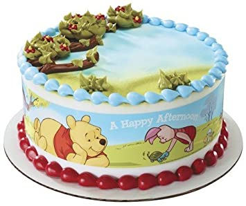 Winnie The Pooh Edible Cake Border Decoration Amazon Grocery
