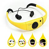 Tayogo Waterproof mp3 Player swimming IPX8 8GB for Swimming Headset,sports headset, under Water Music Player