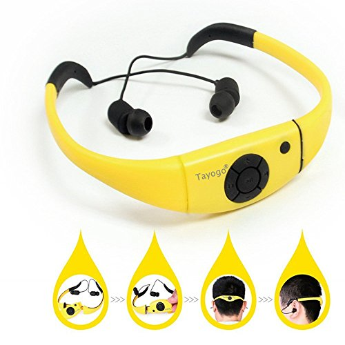 Tayogo Waterproof mp3 Player swimming IPX8 8GB for Swimming Headset,sports...