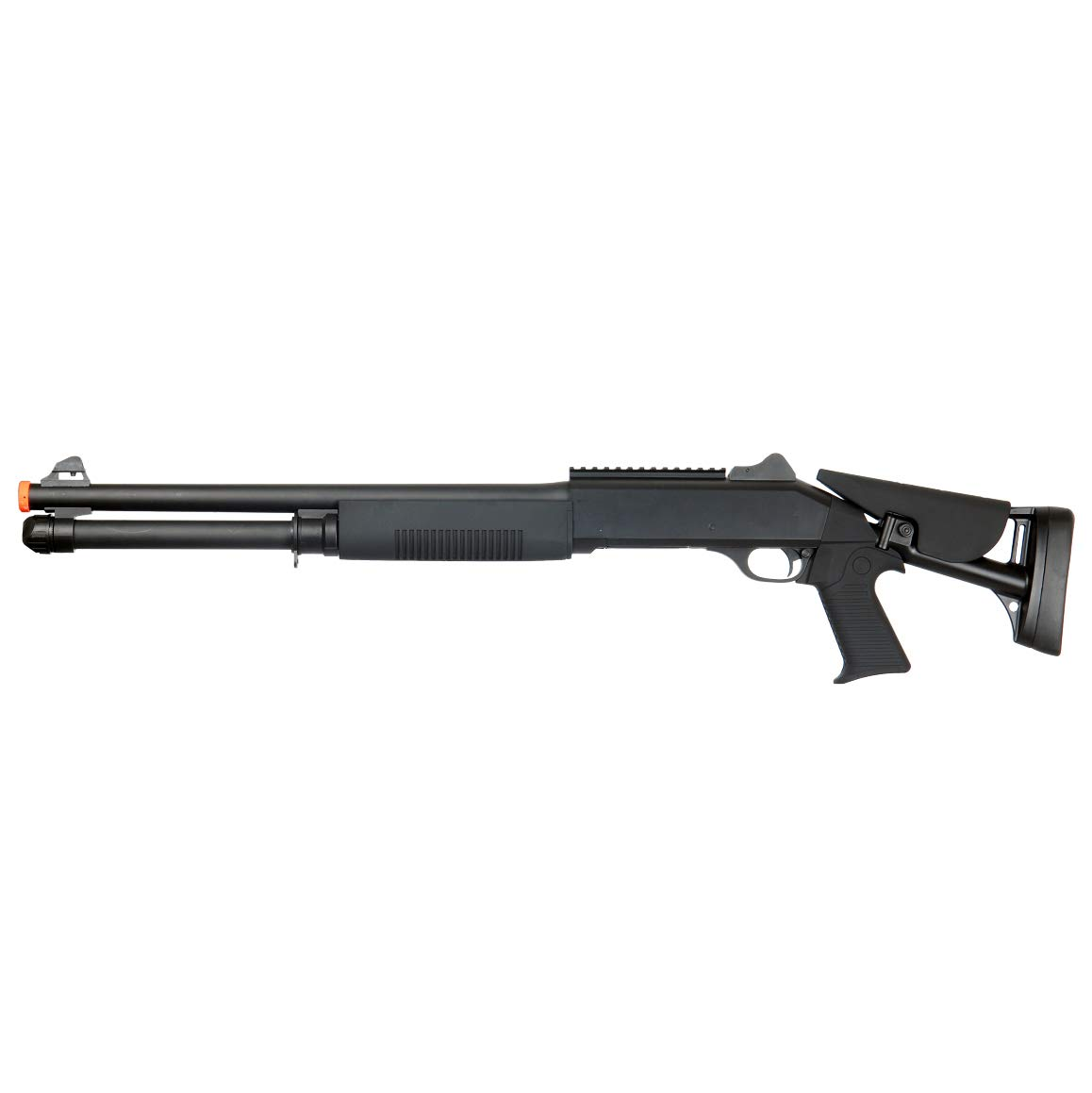 BBTac Airsoft Shotgun BT-M56C Tri-Barrel Triple Shot Spring Loaded Pump Action by BBTac