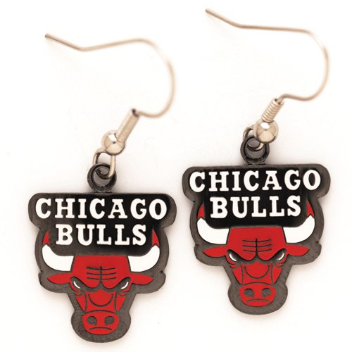 WinCraft NBA Chicago Bulls Earrings Jewelry Card ()