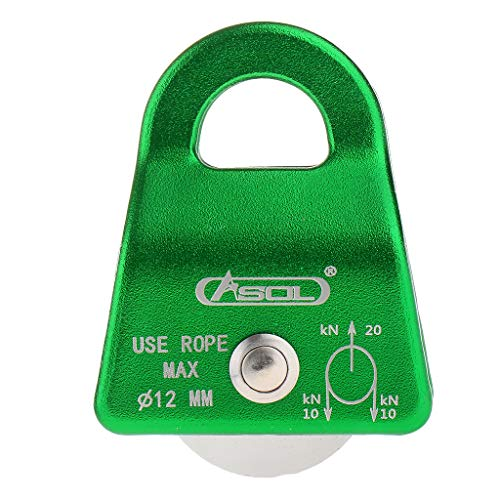 DYNWAVE Single Rope Pulley Swing Sheave Climbing Rescue Rigging 20KN - Green