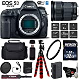 Canon EOS 5D Mark IV DSLR Camera with 24-105mm is STM Lens + Wireless Remote + UV Protection Filter + Case + Wrist Strap + Tripod + Card Reader - International Version