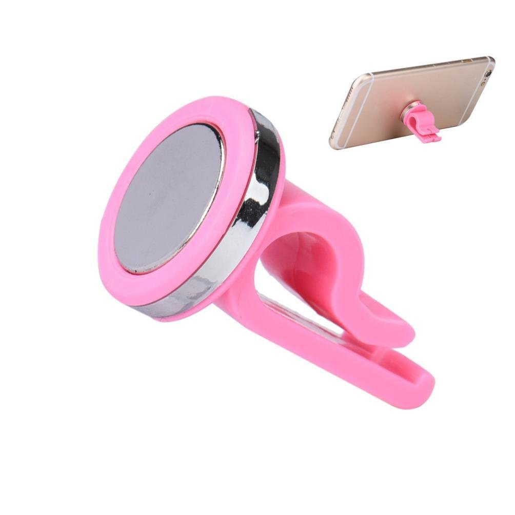 Glumes Car Magnetic Mount, Universal Air Vent Magnetic Phone Car Mounts Holder for iPhone X 8 7 Plus 6S 6 5s 5 SE, Galaxy S9 S8 S7 S6 Edge, LG G6, Note 8 5 4 2 and Mini Tablet (pink)