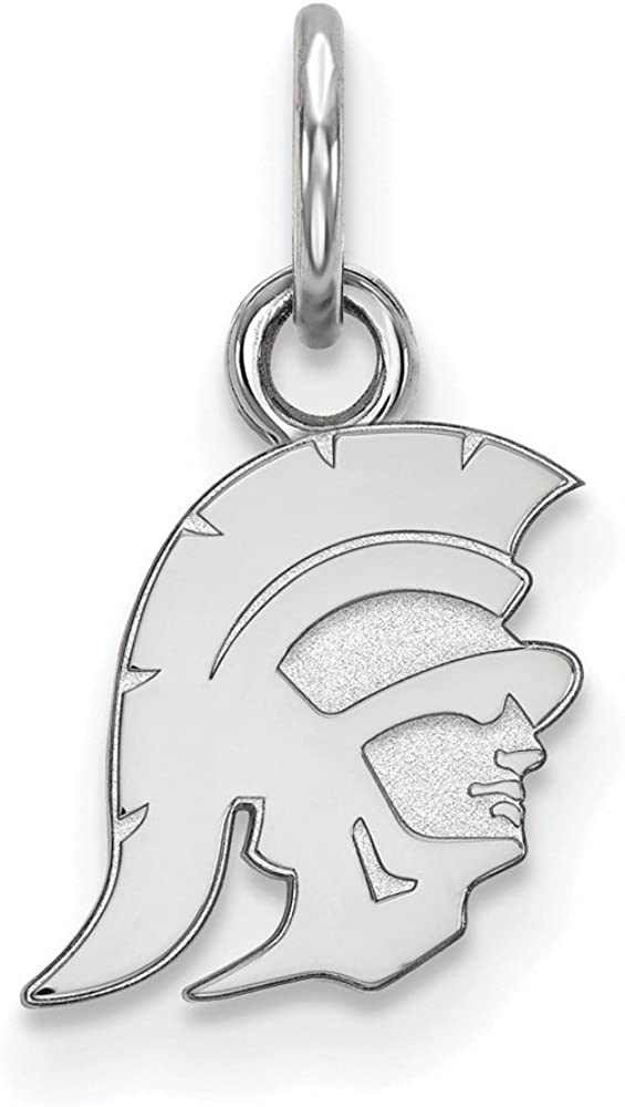 14mm x 9mm Solid 925 Sterling Silver Official University of Southern California Extra Small Tiny Pendant Charm