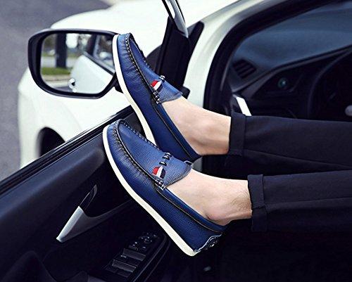 Pour Hommes Mocassins Icegrey Conduite Passant Bleu Homme Bateau Chaussures Cuir ZawHqU