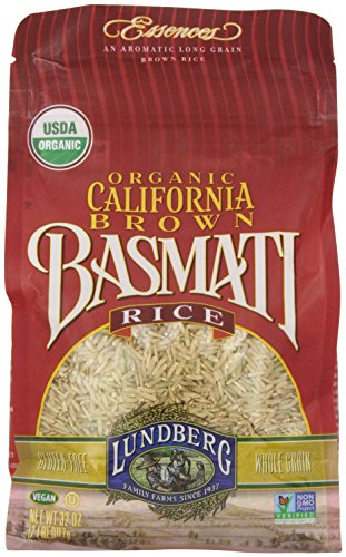 Lundberg Organic Basmati Rice, California Brown, 32 Ounce