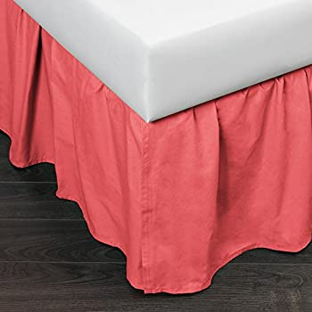 Amazon Com Brighton Bed Skirt Coral King Home Amp Kitchen