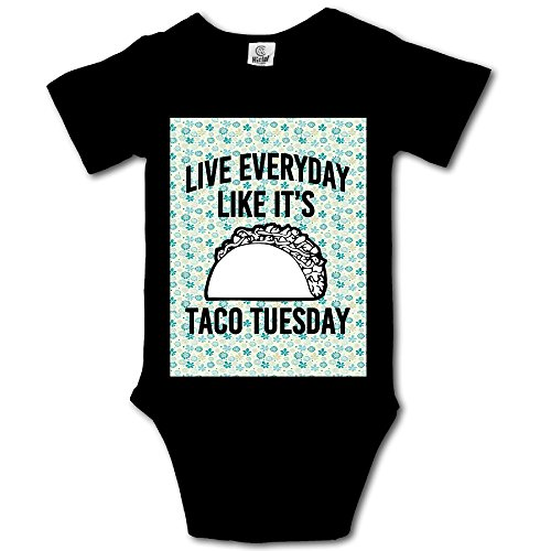 Msiiks Live Everyday Like It's Taco Tuesday Baby Boys Girls