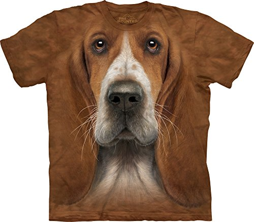 The Mountain Basset Hound Adult T-Shirt, Brown, Large