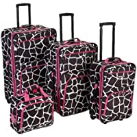 4-Piece Rockland Luggage Fashion Expandable Luggage Set