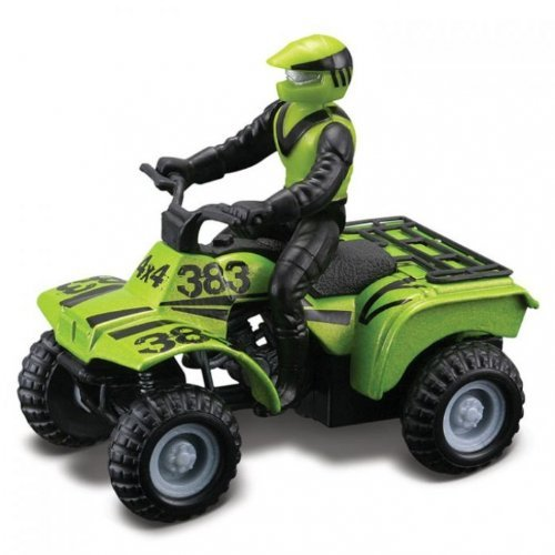 ATV's Maisto Racing Assortment Off-Road Series Motorized 2010 Maisto Fresh Metal Pull-Back Motor Die-Cast Vehicle (One Vehicle Randomly Selected) (Toy Rhino Atv)