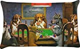 RNK Shops Dogs Playing Poker by C.M.Coolidge Pillow Case - Standard