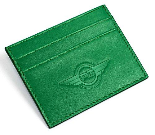 SLIMALIST Ultra-Slim RFID Blocking Front Pocket Leather Wallet (Green)