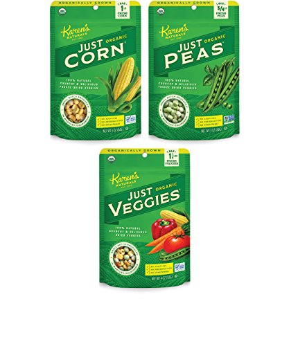 Karen's Naturals Organic Just Veggies Variety Pack, (Pack of 6) (Packaging May Vary) (Tomatoes Just Veggies compare prices)