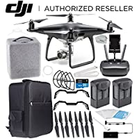 DJI Phantom 4 PRO Obsidian Edition Drone Quadcopter (Black) Essential Backpacker Bundle
