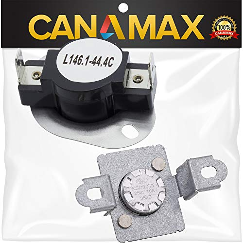 279973 Dryer Thermal Cut-Off Fuse Kit Premium Replacement by Canamax - Compatible with Whirlpool & Kenmore Dryers - Replaces 3391913 8318314 AP3094323 ()