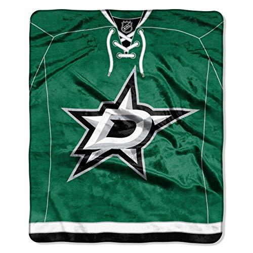 The Northwest Company NHL Dallas Stars Jersey Plush Raschel Throw, 50