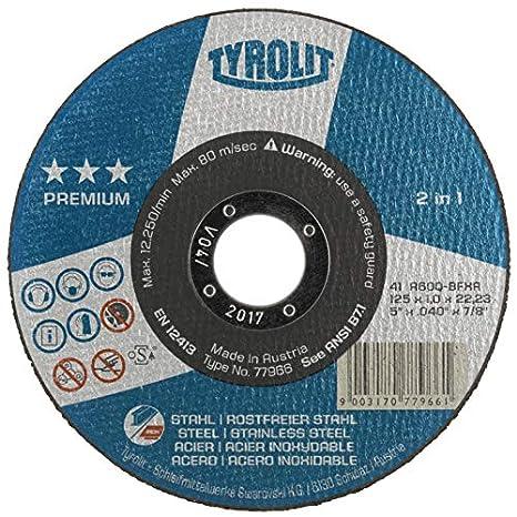 Tyrolit 872346 Premium 2In1 Discos De Corte, 42, A30Q-Bfxa ...
