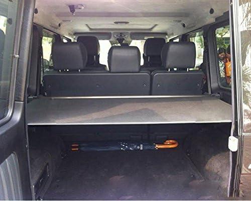 Worth Mats Einziehbare Sichtschutzabdeckung Kofferraum Abschirmung Für Mercedes G Klasse G500 G550 G55 G63 G65 W463 Vor 2019 Schwarz Auto
