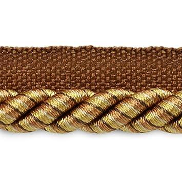 Black//Gold 3//8-Inch Expo International 20-Yard Leona Twisted Lip Cord Trim Embellishment